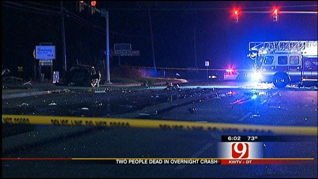 Two Killed In Overnight OKC Crash