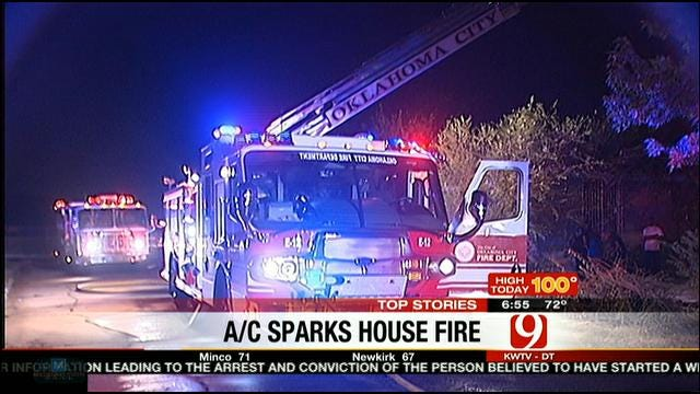 Air Conditioner May Have Caused Early Morning House Fire In OKC