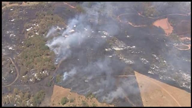 WEB EXTRA: SkyNews9 Flies Over Lincoln County Wildfire