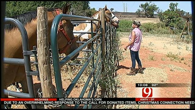 Ninnekah Family, Their Horses Escape Wildfire