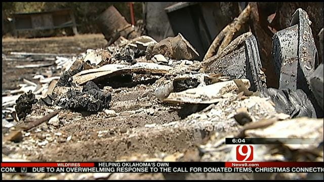 Cushing Residents Clean Up After Wildfires