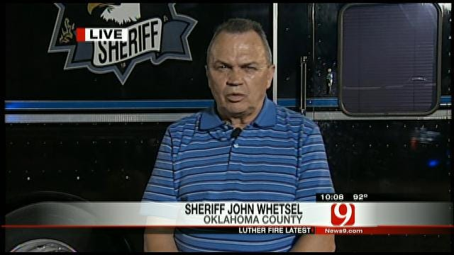 Oklahoma County Sheriff John Whetsel Talks About Luther Wildfire