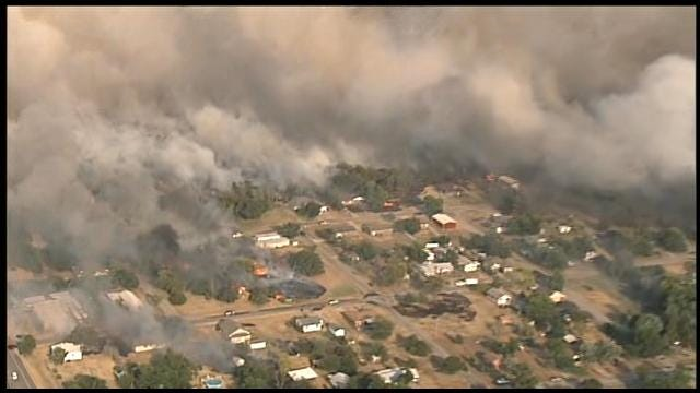 Wildfire Threatening The Town Of Luther