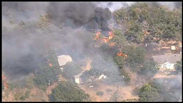 Structures Damaged By Large Grass Fire In Cleveland County