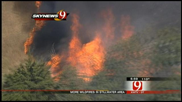 Fire Crews Battling Large Grass Fire In Stillwater