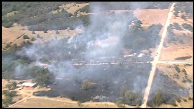 WEB EXTRA: SkyNews9 Over Large Grass Fire Near Stillwater