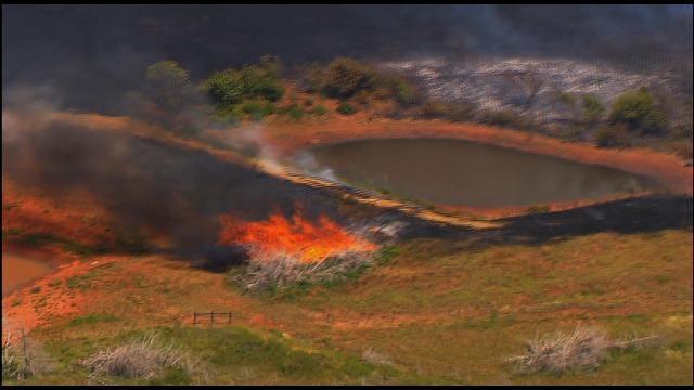 Crews Battle Large Grass Fire In Logan County