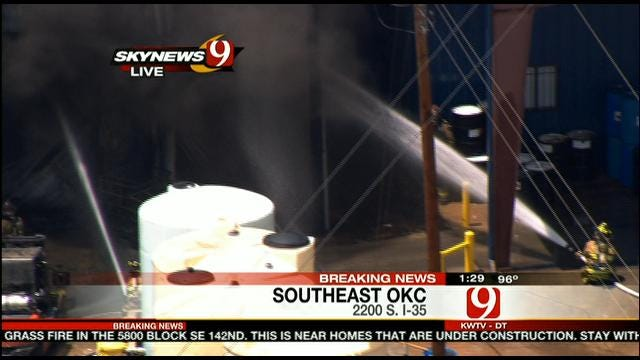 Fire At Chemical Plant In South OKC