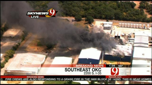 Dozens Of OKC Firefighters Called Out To Plant Fire