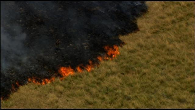 Grass Fire Contained Near Chickasha