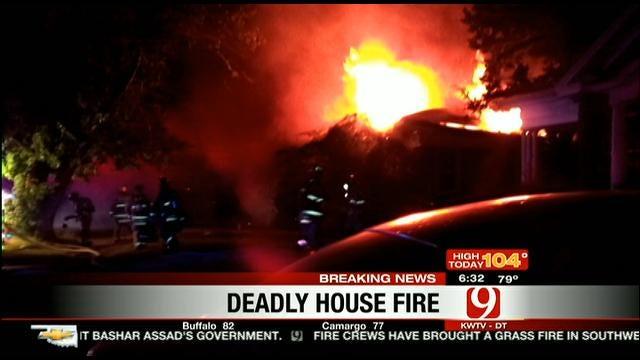 OKC Homicide Unit Investigates Deadly House Fire