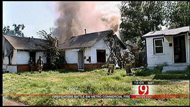 Fire Crews Knock Down Commercial Fire In OKC