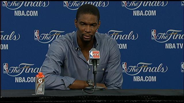 Miami Forward Chris Bosh Postgame Press Conference