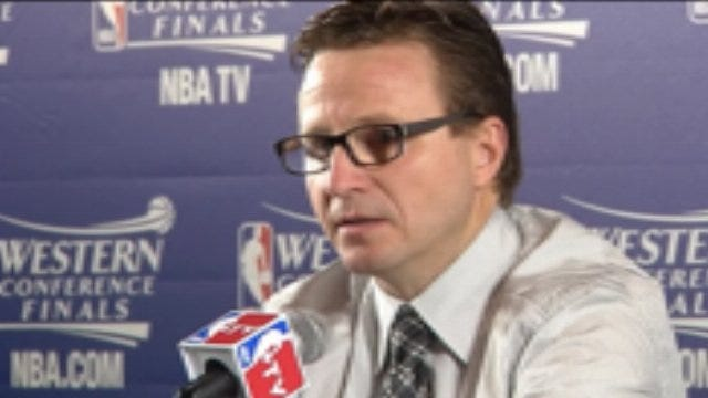 Thunder Coach Scott Brooks And Spurs Coach Greg Popovich Talk About OKC's Series Win