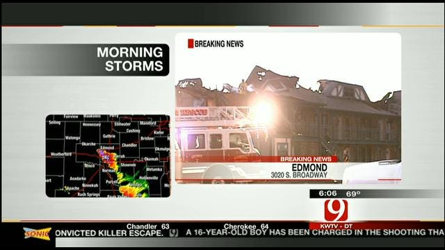 Guests Escape From Fire At Edmond Motel