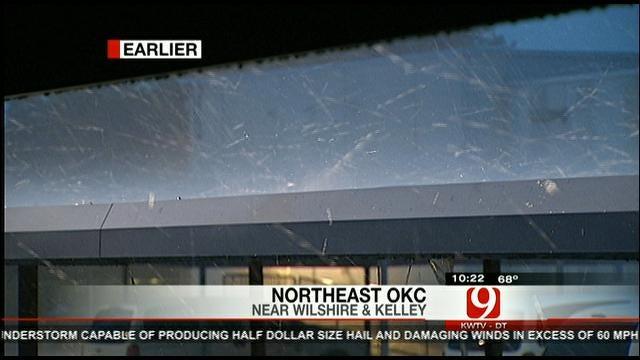 Hail Storm Outside News 9 Station