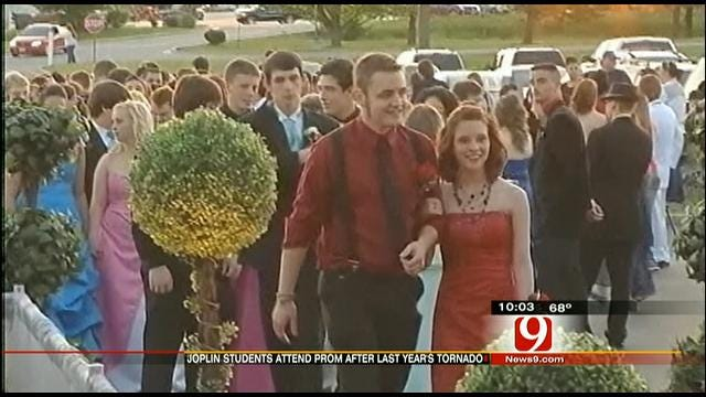 One Year After Tornado Joplin High School Students Attend Prom