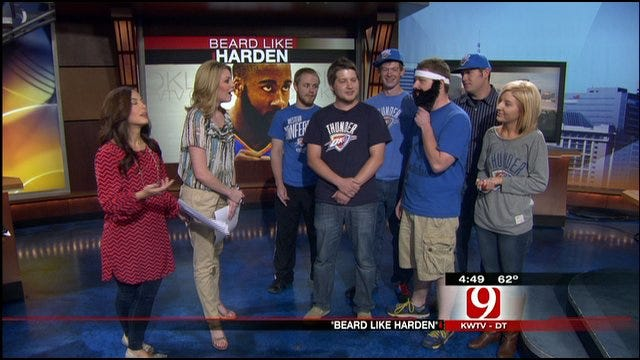 'Beard Like Harden' Crew Stops By News 9