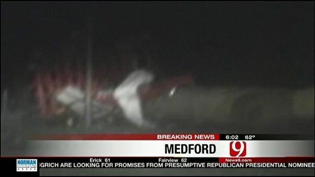 Tornado Leaves Damage Near Medford