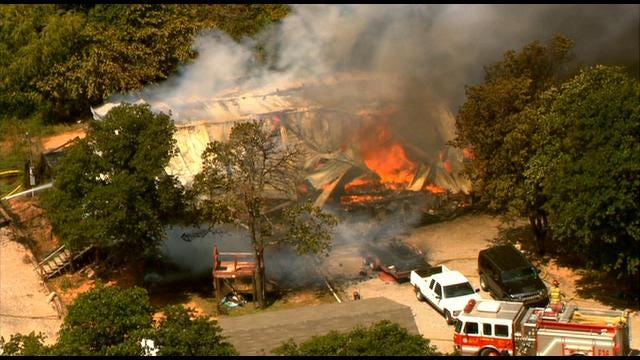 Fire Destroys House In Newalla