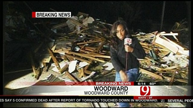 Tornado Destroys Buildings In Woodward