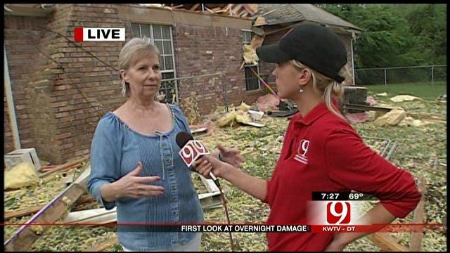 Roof Of OKC Couple's House Ripped Off By Overnight Tornado