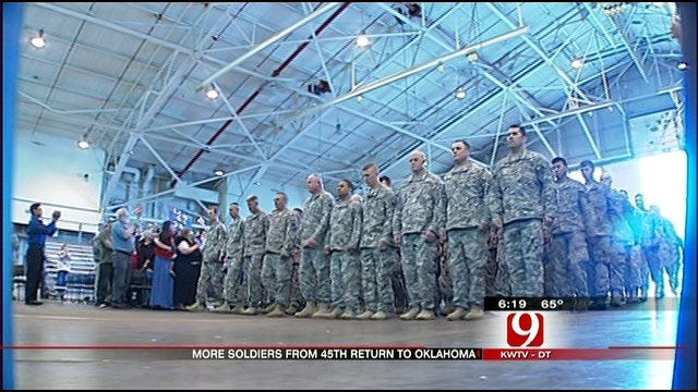 Local Cop, Grandmother Among Returning 45th Soldiers
