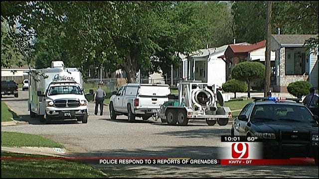 OKC Police Called Out On Three Different Grenade-Related Calls
