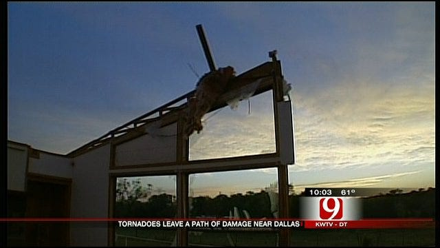 Tornadoes Rip Through Dallas Area, Leave Behind Severe Damage