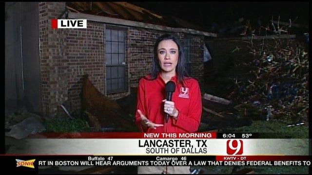 Neighborhood Devastated By Dallas-Area Tornado