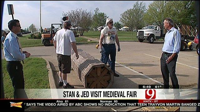 Stan, Jed Tour Preparations For Medieval Fair