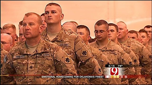 250 More Soldiers Return Home To Oklahoma Soil