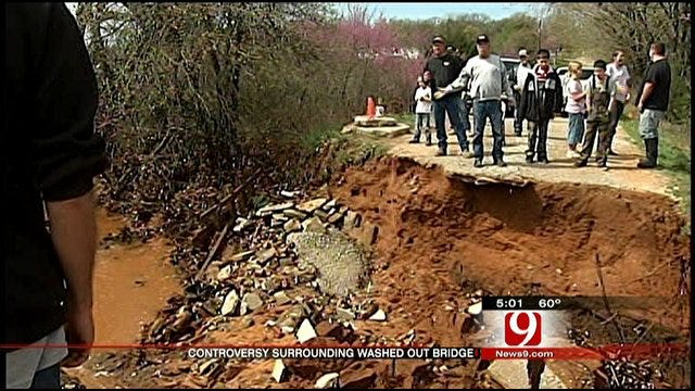 SE OKC Community Struggles To Repair Rain-Damaged Bridge