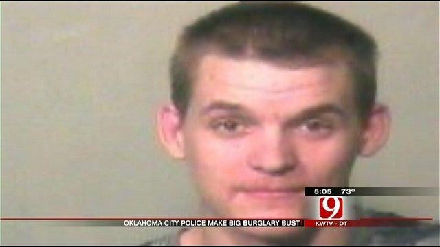 OKC Police Find Items Stolen In Burglaries, Sleeping Criminal In Stolen Car