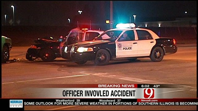 Officer Injured In Two-Vehicle Collision In Northwest OKC