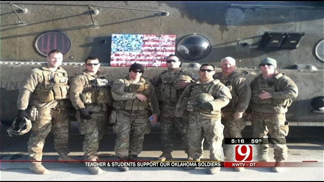 Tuttle Students' Unique Flag Honors The Troops