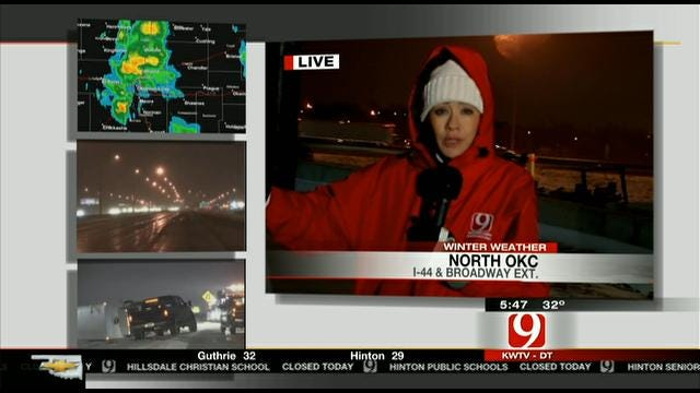 News 9's Bobbie Miller On Road Conditions