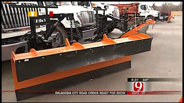 Oklahoma City Road Crews Prepare For Snow