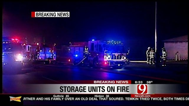 Candle Sparks Fire At Oklahoma City Storage Facility