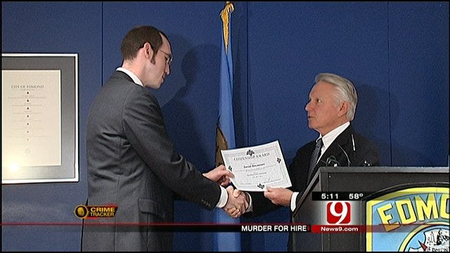 Edmond Man Receives Award For Alerting Police Of Murder For Hire Plot