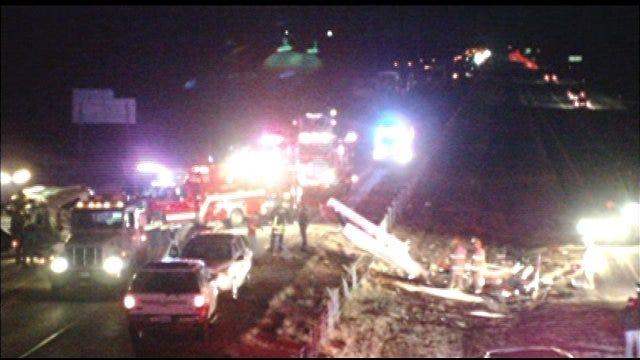 Fatal Crash Shuts Down Parts Of I-35 In Logan County