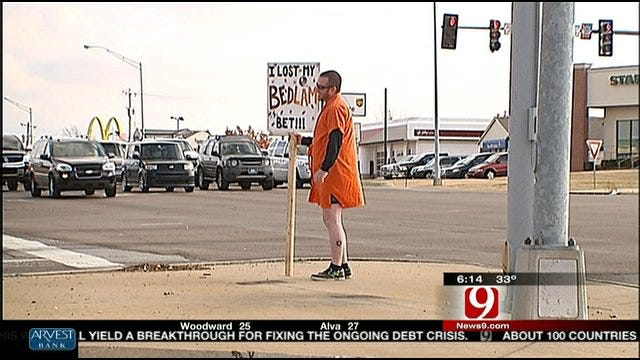 Bedlam Bet Results In Oklahoma City Man In Dress