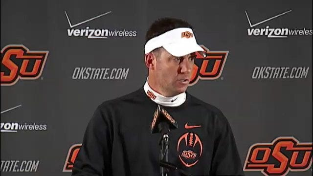 Mike Gundy After The Win In Bedlam