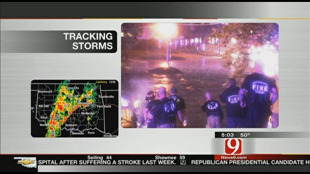 Drivers Stranded In Flooded Streets In Northwest Oklahoma City