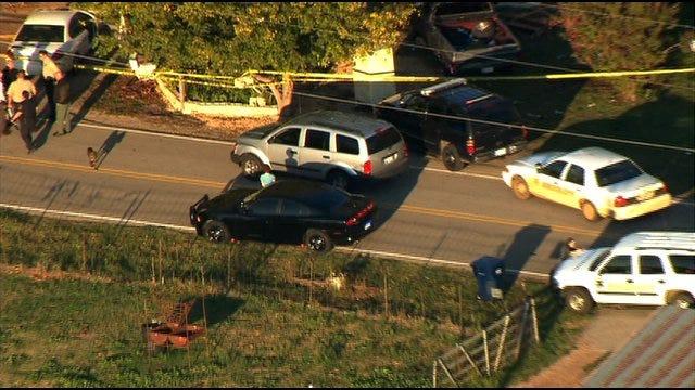 SkyNews 9 Flies Over Scene Of Shots Fired In Pottwatomie County