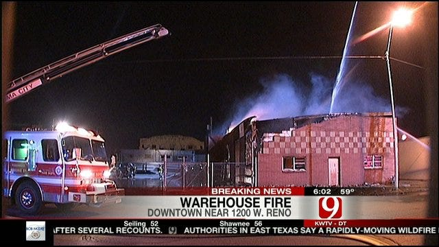 OKC Warehouse Fire Called Suspicious