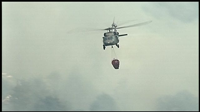Sky News 9 Video Of Black Hawk Helicopter Making Water Drops