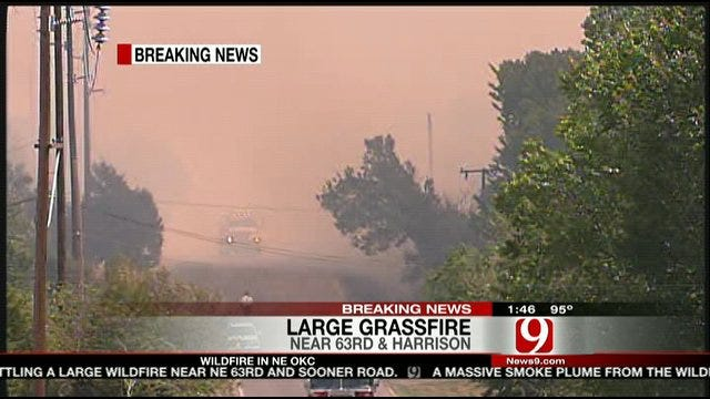 American Red Cross Talks About Northeast OKC Wildfire