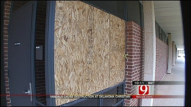 Oklahoma Christian Cleans Up After Vandal Attack