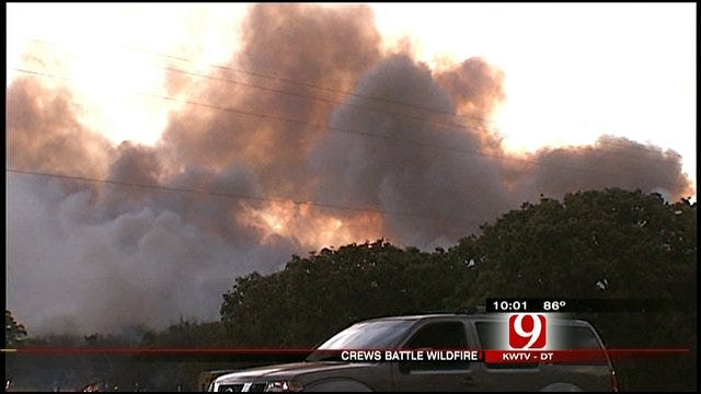 Firefighters Mop Up Hot Spots From Edmond Wildfire